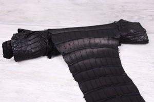 Кожа крокодила Италия (черный)