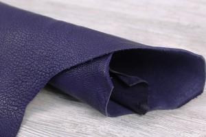 Кожа козлик Италия (синий, матовый, тонкий)