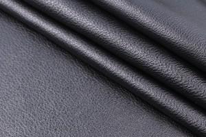Кожа одежная лицевая КРС Италия (черный, гладкая)
