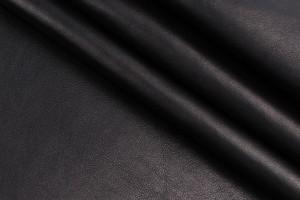 Кожа овчина Италия (черный, гладкая, плотная на подкладке)