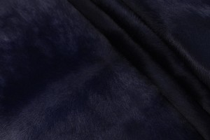 Кожа не стриженная опоек Италия (темно-синий, даблфейс, пони)