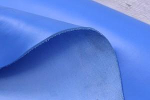 Кожа КРС Италия (васильковый, гладкая, толщина 3,5 мм)