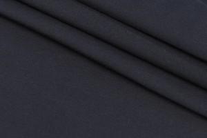 Ткань габардин-коттон рубашечный Италия (коттон 100%, черный, шир. 1,55 м)