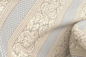 Шенилл Regent Beige Stripe (полиэстер 100%, бежевый, полоса, шир. 1.4 м)