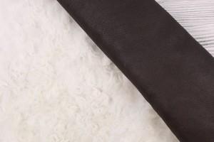 Дубленка тоскана, кожа (молочный, темно-коричневая)