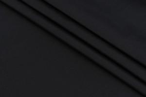 Ткань плащевка Италия (воздухонепроницаемая, полиэстер 100%, черная плотная, шир. 1,50 м)