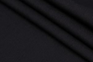 Ткань плащевка Италия (воздухонепроницаемая, полиэстер 100%, черная, шир. 1,50 м)