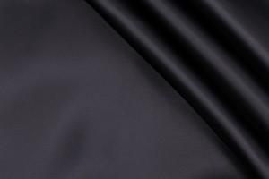 Ткань подкладочная Италия (вискоза 100%, черный, плотный атлас, шир. 1,50 м)