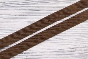 Киперная лента Италия (шелк 100%, коричневый, ширина 1,5 см)