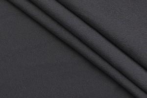 Ткань крепдешин Италия (шелк 97%, эластан 3%, черный, шир. 1,30 м)