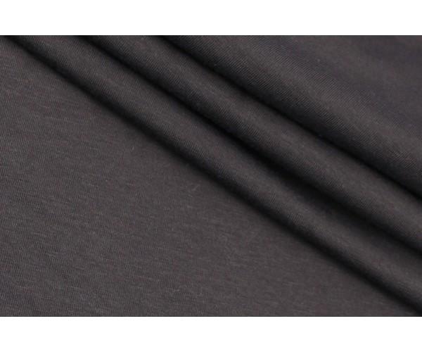 Ткань трикотаж Италия (коттон 100%, темный шоколад, шир. 1,30 м)