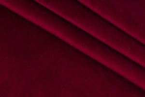 Ткань бархат Италия (коттон 100%, красный, шир. 1,50 м)