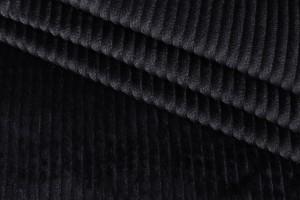 Ткань вельвет (коттон 100%, черный, шир. 1,38 м)