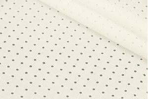 Ткань прошва Италия (коттон 100%, белый, квадраты, шир. 1,40 м)