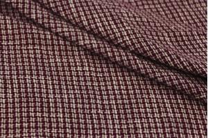 Ткань лен костюмный Италия (лен 100%, молочно-бордовая клетка, шир. 1,40 м)