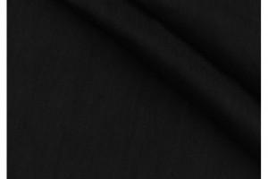 Ткань лен костюмный Италия (лен 98%, эластан 2%, черный,  шир. 1,40 м)