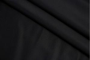 Ткань бифлекс Италия (полиестер 90% эластан 10%, черный, шир. 1,50 м)